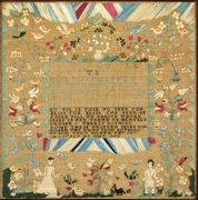 Needlework Sampler by Polly Phippen , 1783, Salem, MA