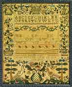 18th C. Sampler, New Hampshire
