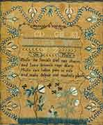 Needlework Sampler by Hannah S. Wolcott, Circa 1800