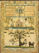 Sampler by Susan Rabsom , Probably English, Dated 1789