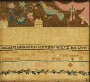 Sampler by   Elizabeth Day Hall (1772-1858), Wallingford, Connecticut, Dated 1791