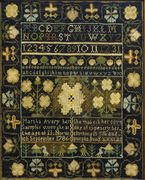 Sampler by   Martha Avery (1773-1800), Norwich, Connecticut, Dated 1786