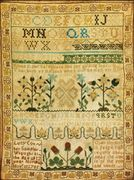 Sampler by   Lucy Coit (1773-1845), Norwich, Connecticut, Dated 1785