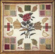 Darning Sampler, English, initialed MR, dated
