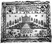 Eliza F. Brown sampler, 1808,, N.J