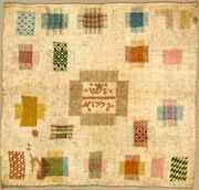 Darning sampler, cotton and silk, Netherland