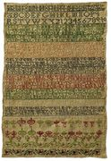18th c. english sampler