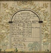 Genealogical sampler, American, 1825
