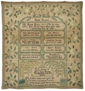 Genealogical sampler, American, 1822
