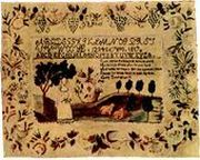 Laura Bowker's sampler, 1817
