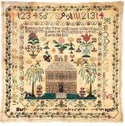 sampler of Margareth Ogle, Maryland, 1791