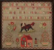 A late 19th century woolwork sampler by Alice