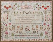 19th century sampler worked by Mary Bonsher