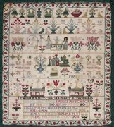 A late 18th century motif sampler, worked Jan