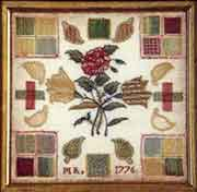 Darning Sampler, English, initialed MR