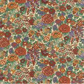 Libery categorized their fabrics with different names Abstract,Conversational, Floral, Floral Conversational, Fruit, Geometric Floral, Leaf, Paisley.