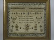 A 19th century sampler by Mary Matthews, aged
