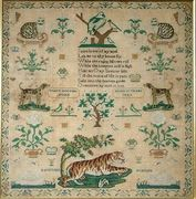 1820 Silkwork Sampler by Mary Holmes