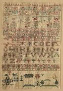 Sampler, England, 18th century 1743