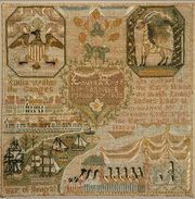 Sampler,by  Laura Hyde, 1800