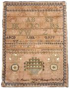 Margaret C. Simmon's sampler 1827 DC