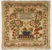American sampler 19th c. Pensylvania
