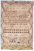 Molley Russell's sampler 1776 us