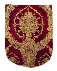 Italy, Venice Textile with Pomegranate Patter