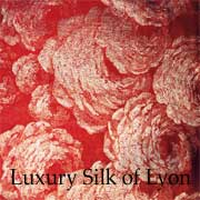 Exceptional piece of silk made in Lyon in the 20th century