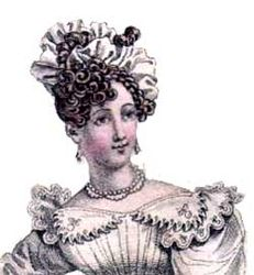 Simple coiffure 1826