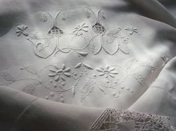luxury linen sheets lace and embroidery