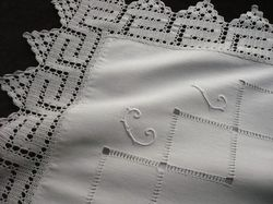 luxury white linen and cotton euro squares