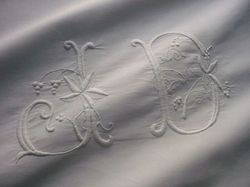 finest linen and cotton pillowcase monogram JD