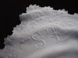 luxury fine linen pillowcases monogram ST