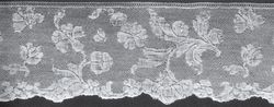 Valenciennes lace border Louis XV style