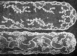 Mechlin lace barbes probably made in Lille