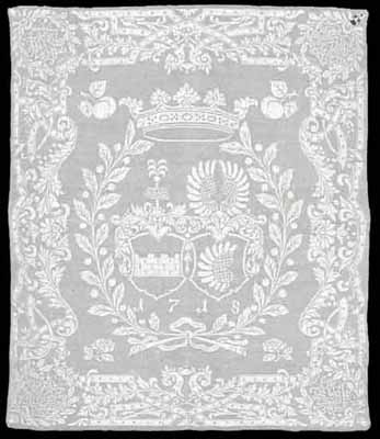 17th centuru linen damask napkins