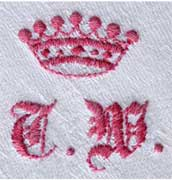 crown monograms