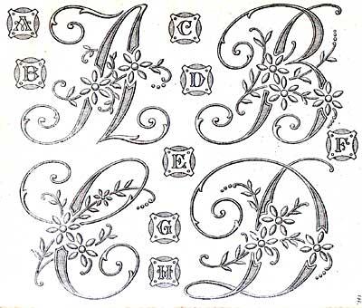 EMBROIDERY MONOGRAM ALPHABET - Embroidery Designs