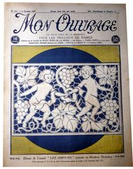 cushion cover richelieu embroidery 1926