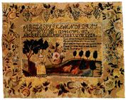 Laura Bower Sampler USA 1815