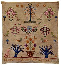 french Sampler 1745