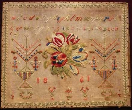 french sampler mid 19th c.