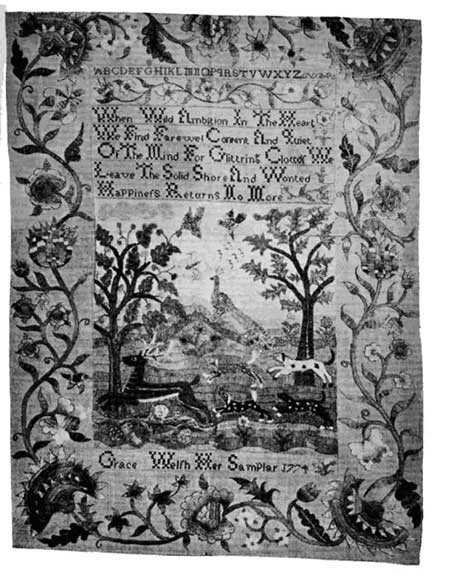 Grace Welsh Sampler 1774