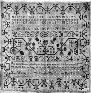Mary Wakeling Sampler 1742